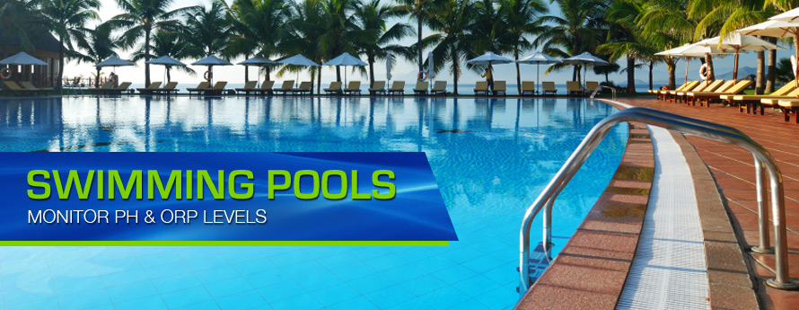 Swimming Pools - Monitor PH and ORP Levels